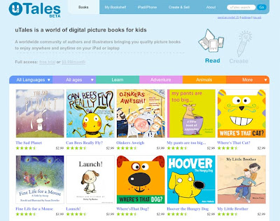 uTales website for storytellers and illustrators from around the world.