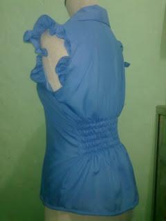 blus lengan variasi renda kerut_1