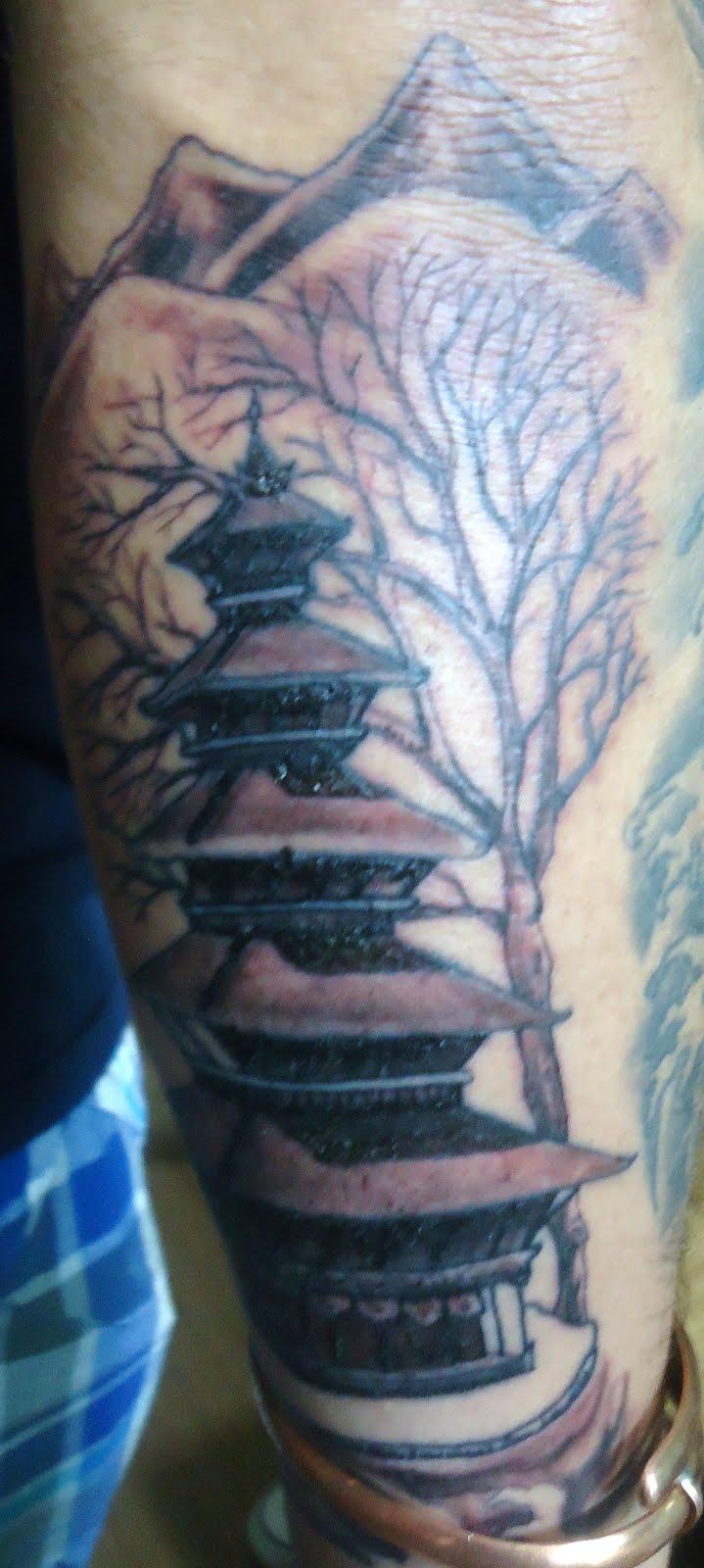 funky buddha tattoo thamel kathmandu nepali pagoda temple