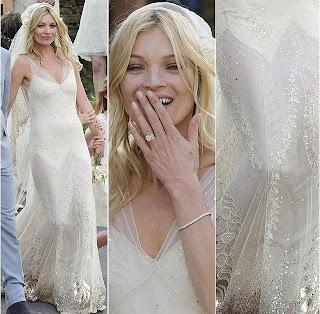 vestido de casamento de Kate Moss