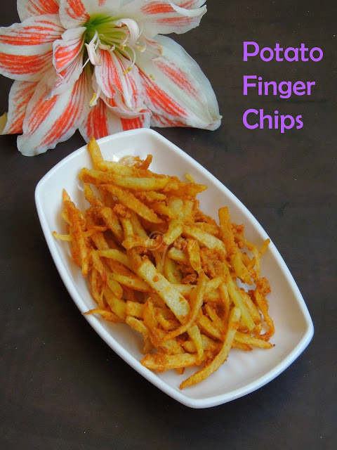 Finger chips, potato finger chips
