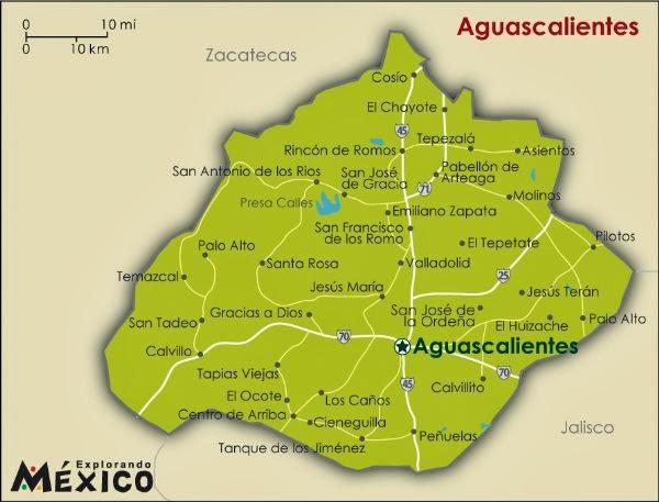 División por ciudades de Aguascalientes