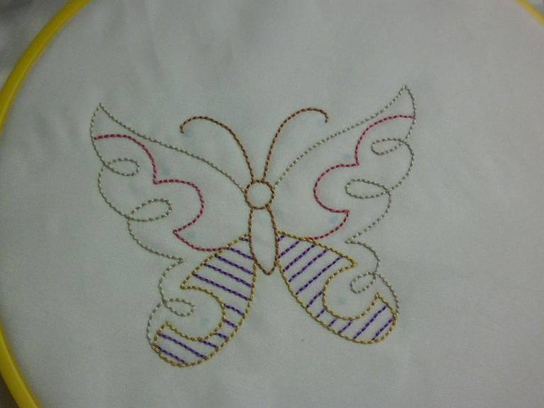 Shawkl Embroidery Butterfly
