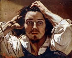autorretrato de Gustav Courbet. (Francia1819-Suiza1877)