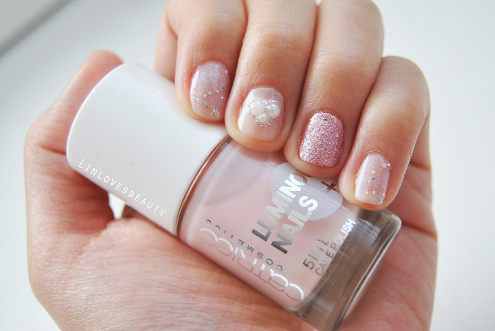 linlovesbeauty pink glitter nails. Black Bedroom Furniture Sets. Home Design Ideas