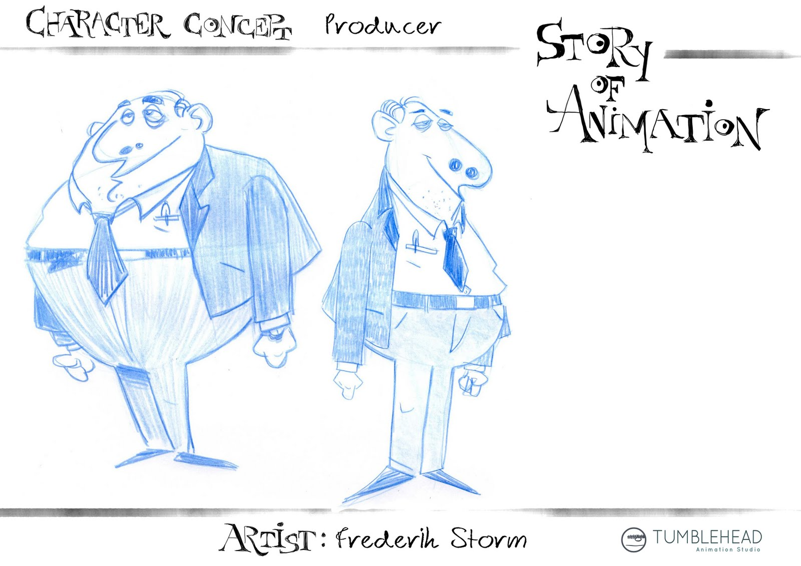 Character Design Presentation : The story of animation week monday character design