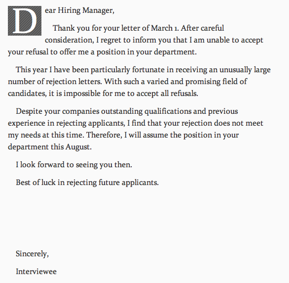 thank you for hiring me