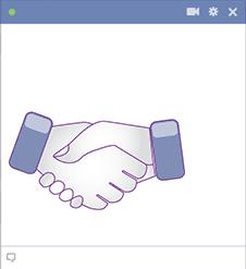 Hand Shake Facebook Sticker