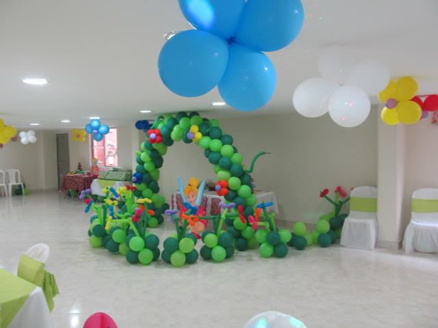 DECORACIONES CON GLOBOS PARA FIESTAS INFANTILES DE CAMPANITA MEDELLIN