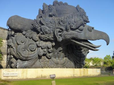 The Head of Garuda Statue at Garuda Wisnu Kencana Park Bali
