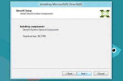 Atualizando o DirectX