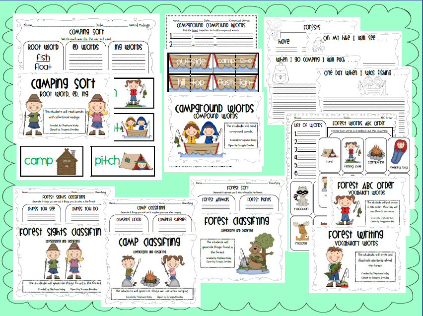 Inflectional Endings, Compound Words, Vocabulary Cards, Writing Ideas