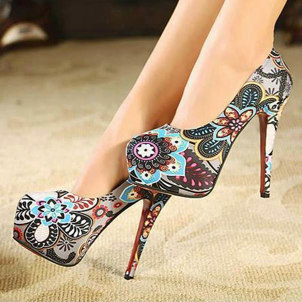 Four High Heels Shoes