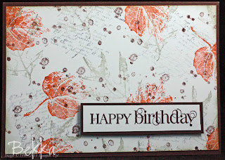 Curly Cute / French Foliage Card by UK Stampin' Up! Demonstrator Bekka Prideaux