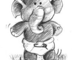 Este elefantito se llama Mtsr. Popo, que siempre va en busca del invierno, y aquí siempre lo es...