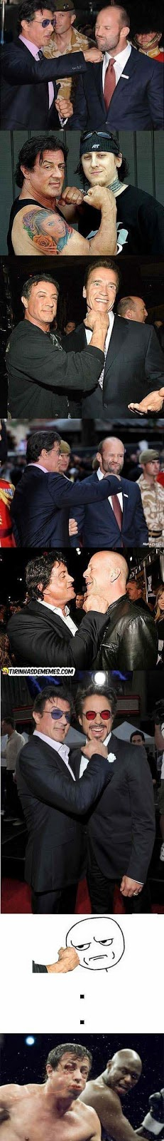 Poxa Sylvester Stallone, pra com isso!