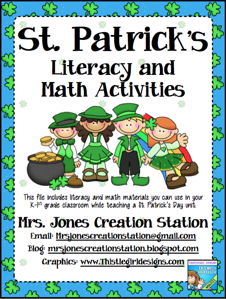 http://www.teacherspayteachers.com/Product/St-Patricks-Day-Literacy-Math-Activities-209212