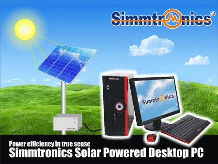 Solar power operated desktop PC