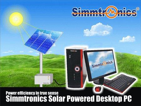 Solar power operated desktop PC
