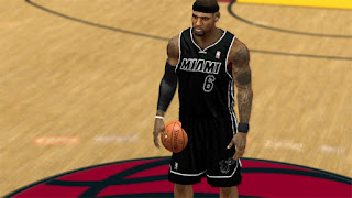 NBA 2K13 Miami Heat Jersey Patch Back in Black