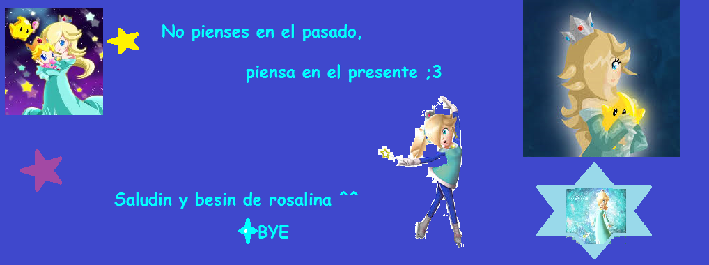 Sello de despedida de rosalina