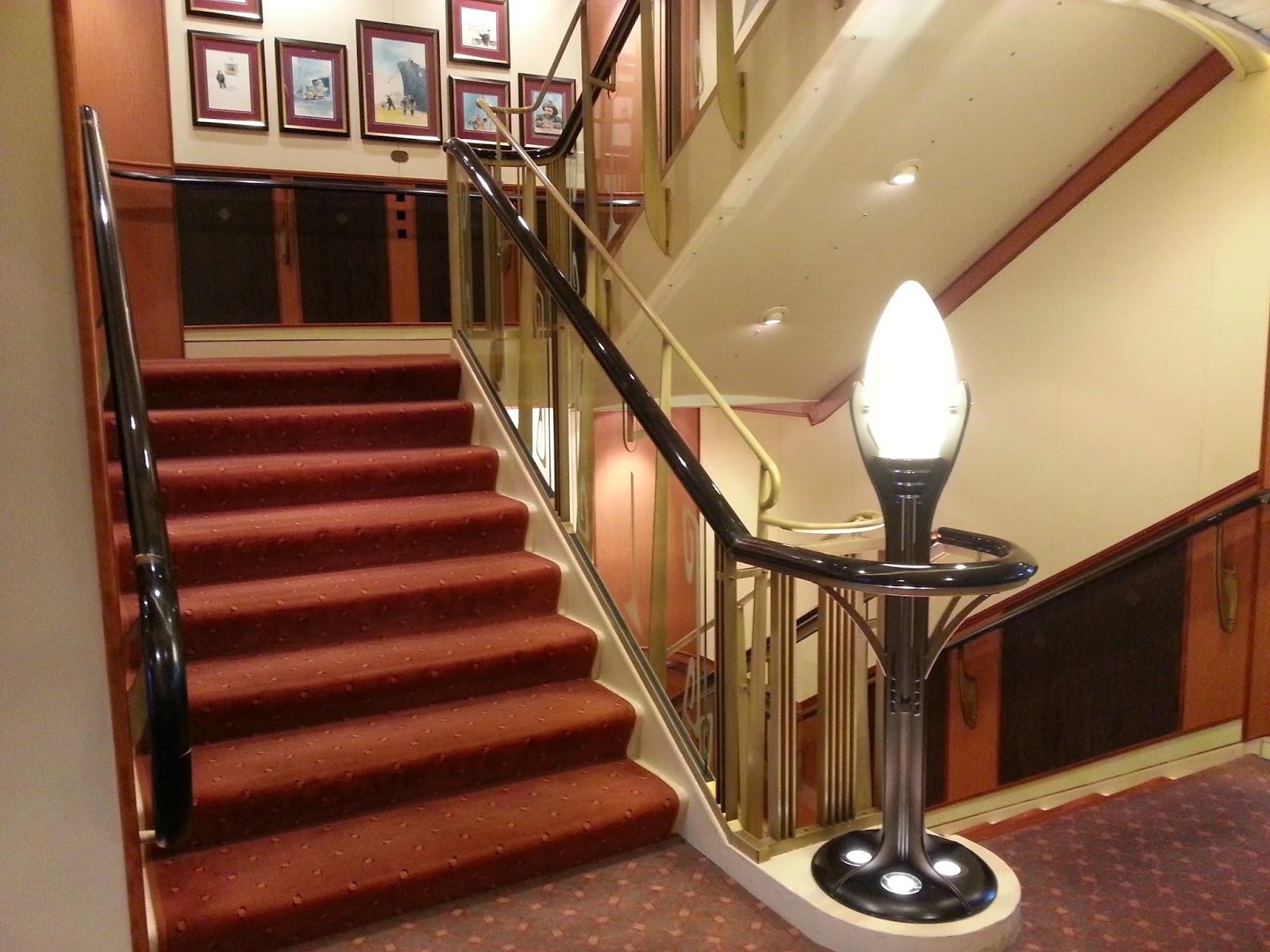 Hurtigruten MS Finnmarken - Stairwell