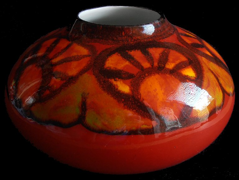 Robs Poole Pottery Blog Delphis Vase Painted By Andree Fontana
