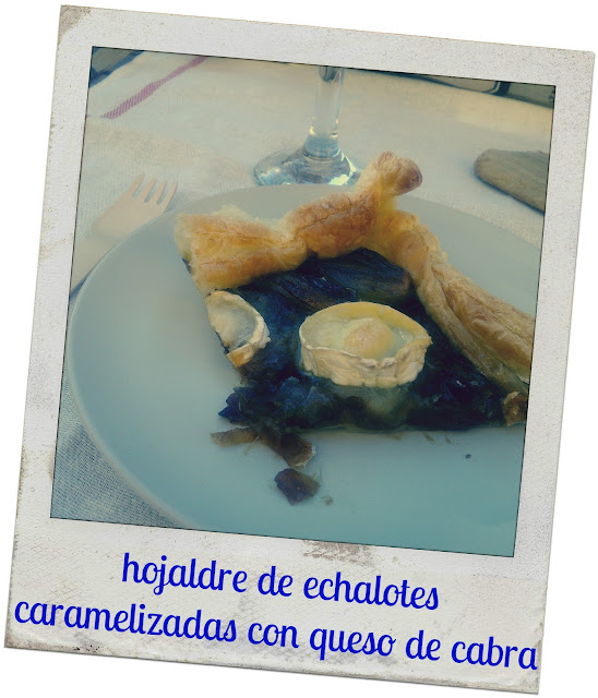 echalotes puff pastry, echalotes and goat cheese puff pastry