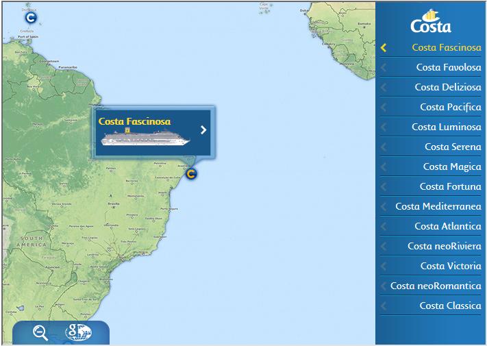 Costa Webcams And Position Ship Cruises