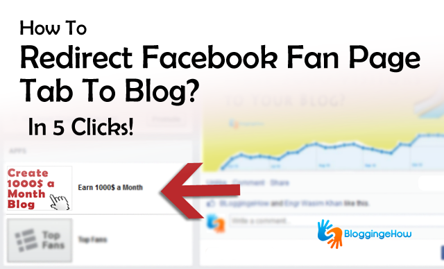 redirect facebookt tabs to blogs