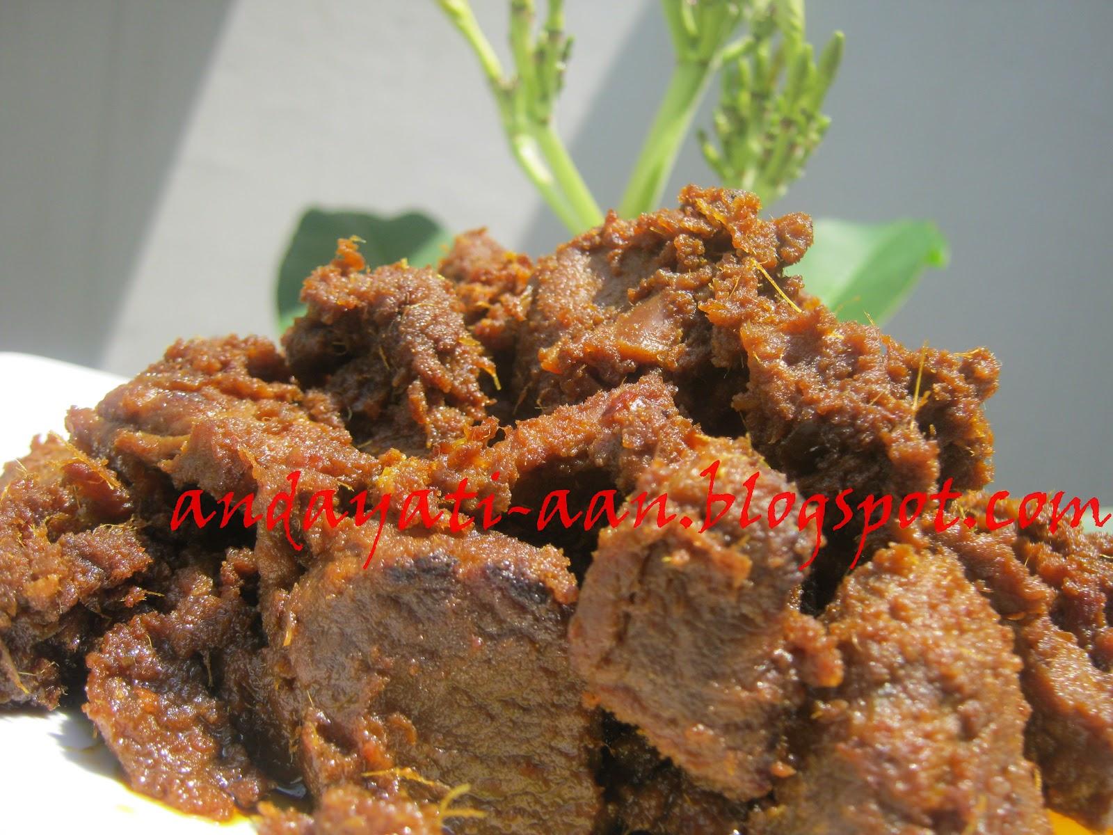 rumah maret rendang daging kacang merah