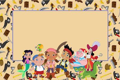 Jake y los piratas de Nunca Jamás: invitaciones para imprimir gratis.