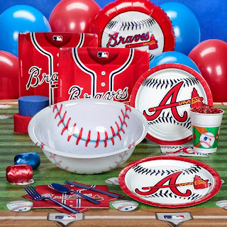 Atlanta Braves MLB Baseball Deluxe Party Kit