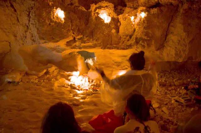 prayer in a cave