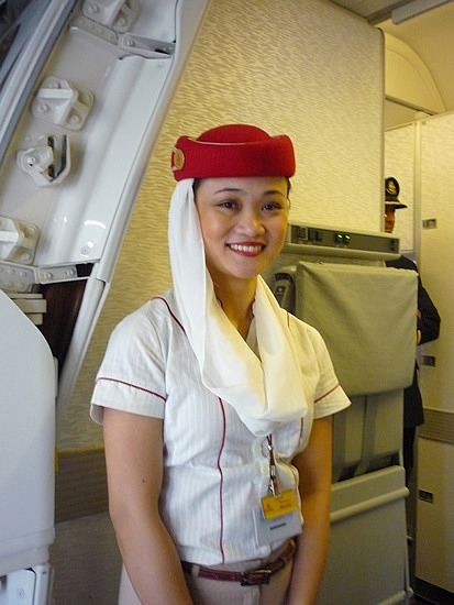 Airline hostess with nice tits 4