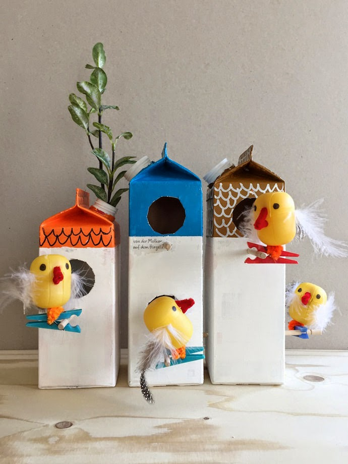 Manualidad casita de pájaros con tetrabrik1