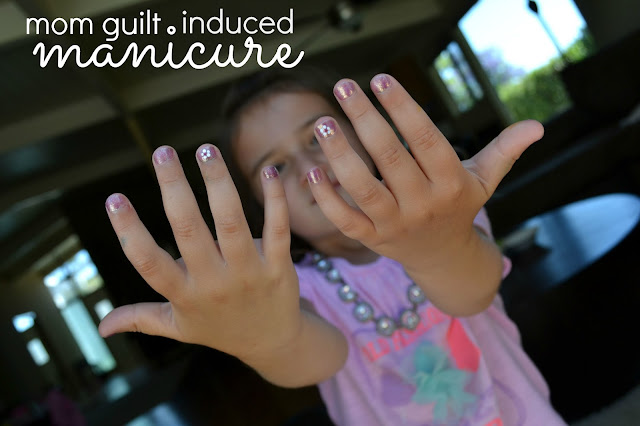Mommy Testers mom guilt induced manicure
