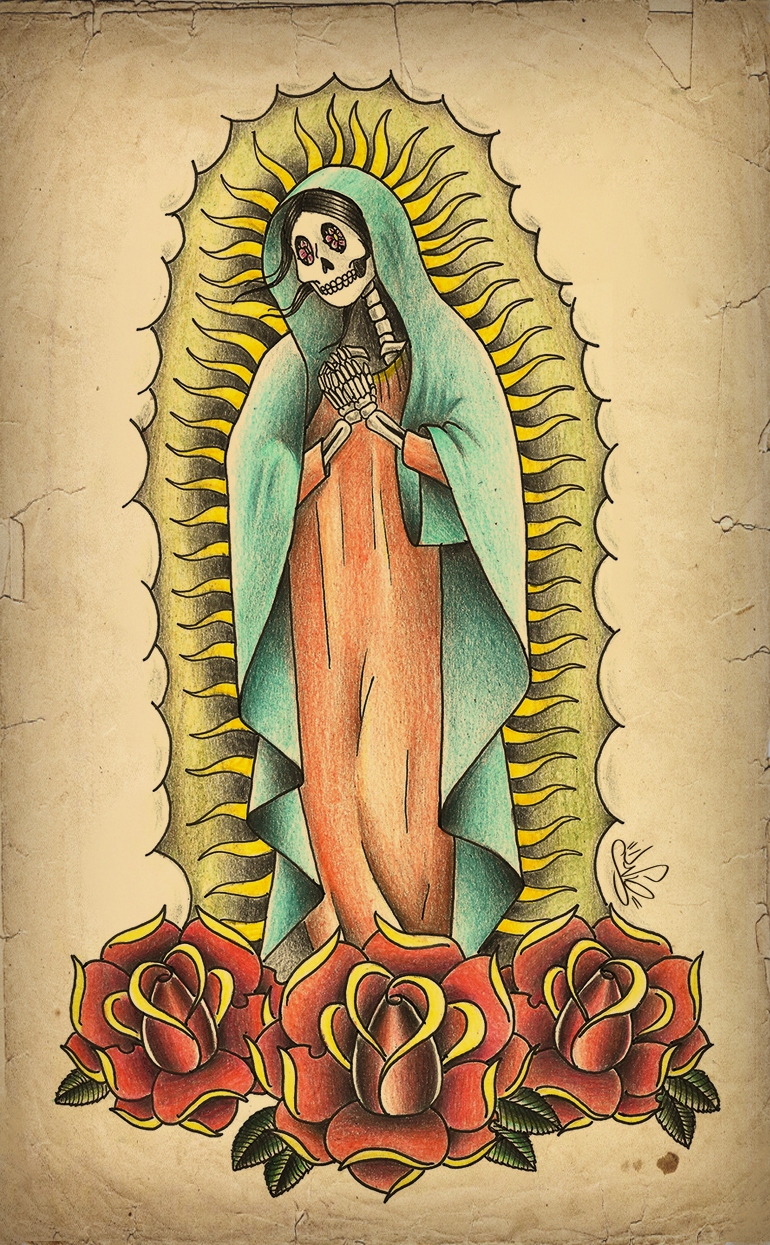 Tattoo Virgem de Guadalupe Old School