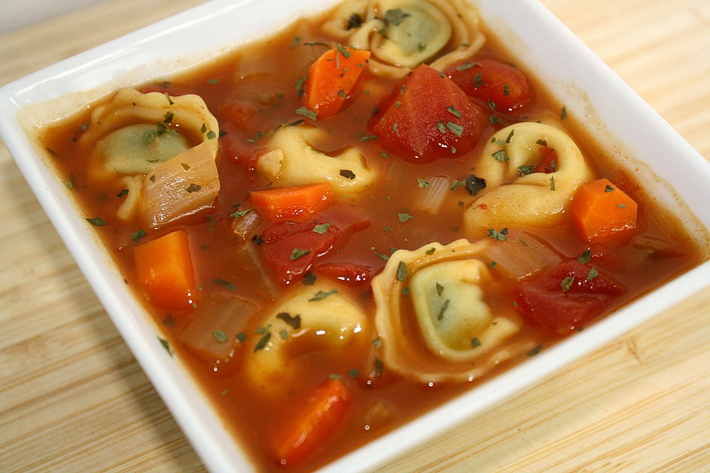 Garlicky Tortellini Soup Recipe — Dishmaps