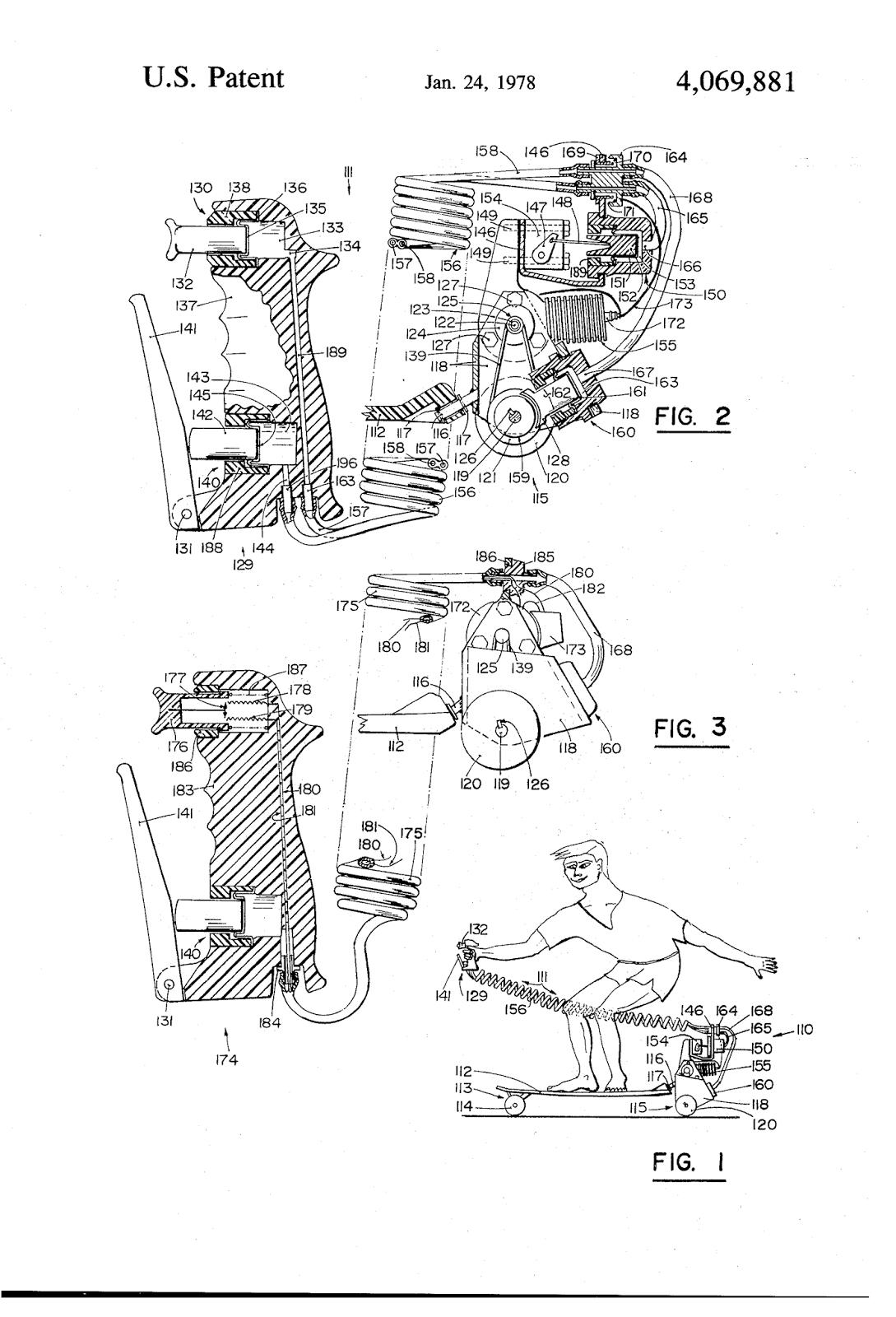 Patent US7976034 - Foldable skateboard - Google Patents