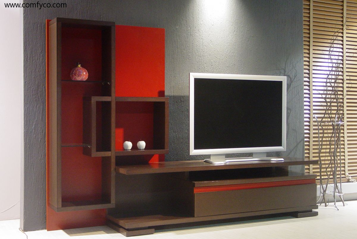 10 tv cabinets designs for modern home for Latest lcd wall unit designs
