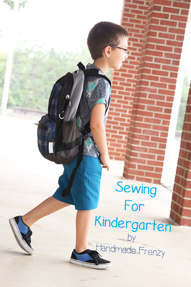Sewing for Kindergarten - Banyan Tee & Sketchbook Shorts