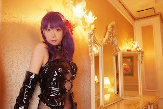 Sachi Budou cosplay as Sakura Matou in Leather from Fate/Stay Night