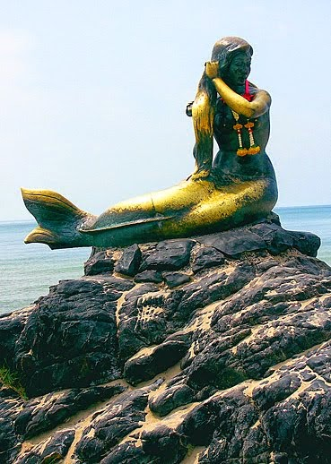 Songkhla Mermaid at the beach