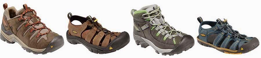 Keen walking hiking footwear