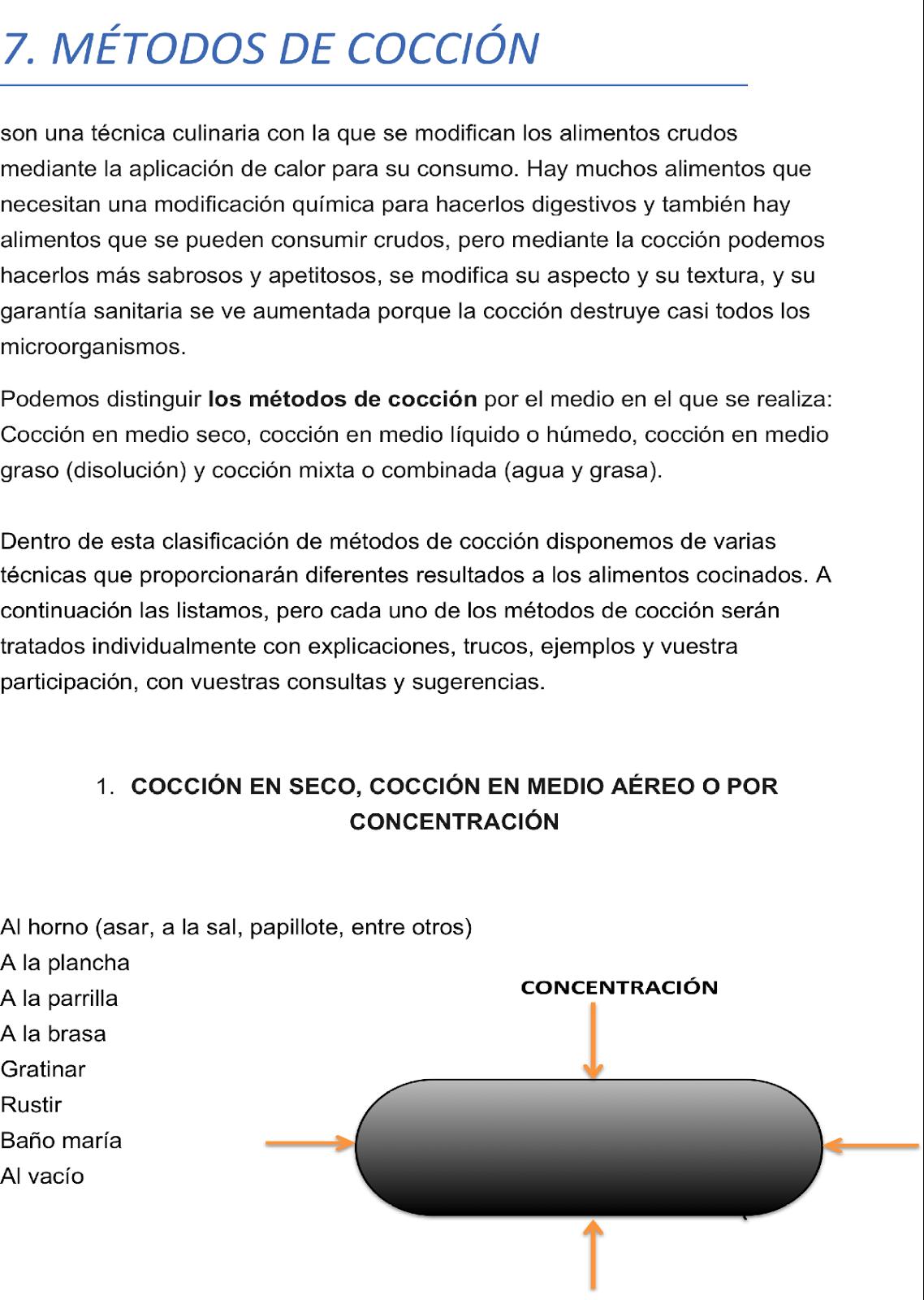 Tecnicas de cocina metodos de coccion for Tecnicas basicas de cocina pdf