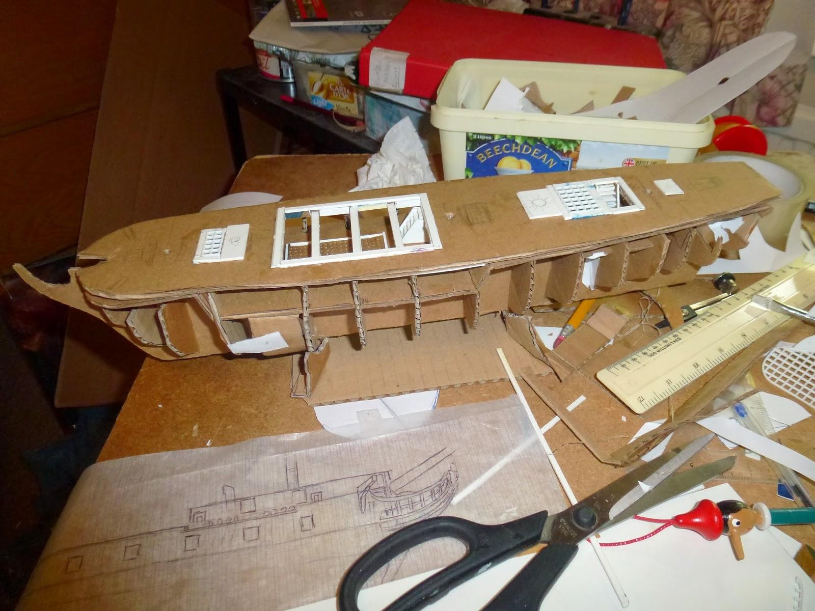 The Art Blog of Gordon Napier: How to make a Model Frigate ...