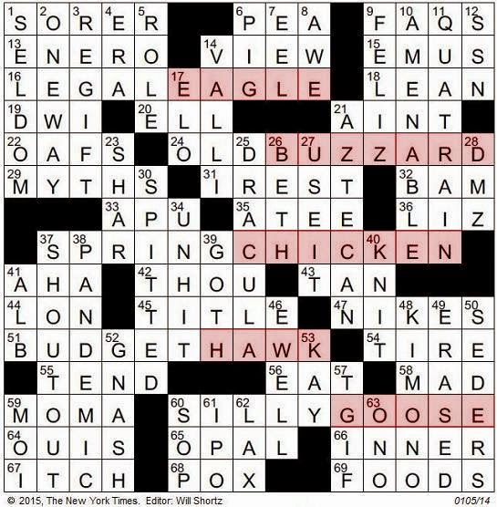the new york times crossword in gothic