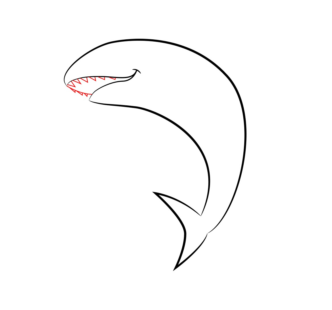 how to draw a cartoon shark draw central