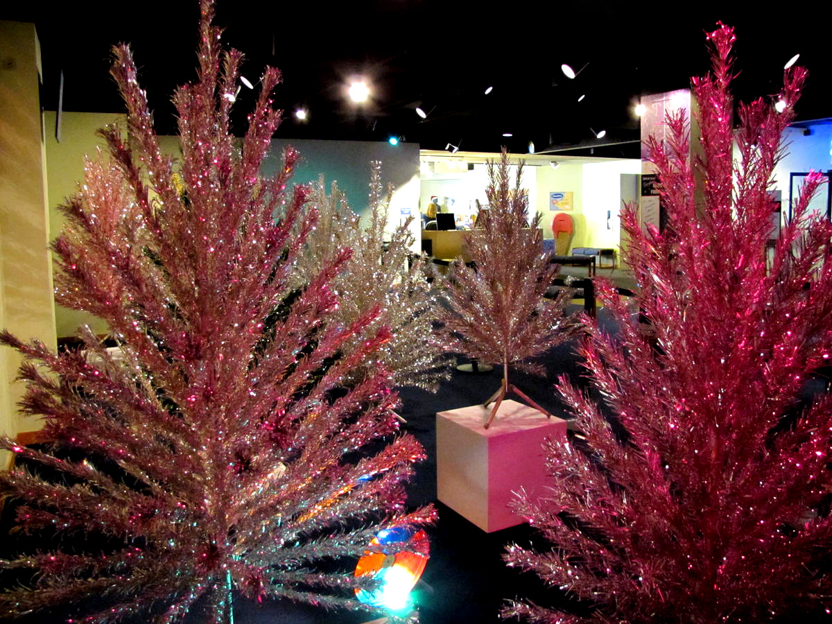Pink aluminum christmas tree charlie brown